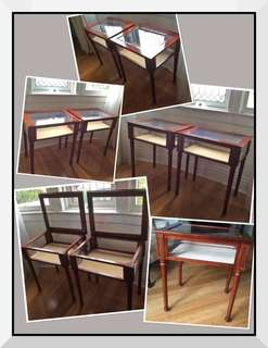 *****JUST REDUCED THE PRICE!!!!!!!!!! ***2 ABSOLUTELY STUNNING Collectable 1990's Bombay solid wood Curio tables***