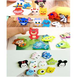 2 FOR $2.00 DISNEY MAGNET*FRIDGE*STATIONERY*CUTE*STRONG*CHARACTER*STATIONERY*POOH*MICKEY*MINNIE*RONALD