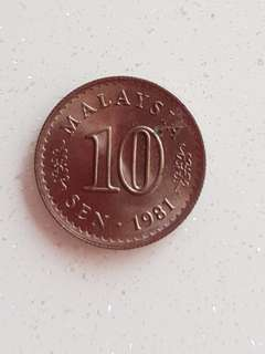 Malaysia old 10 cent