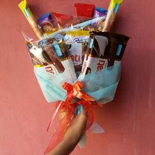 Food bucket Buket Makanan Bouquet snack