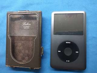 iPod 120gb with Belkin leather case. 90% new, rarely used