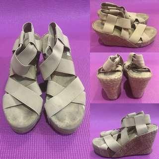 Garterized Criss Cross Sandals