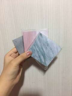 Cute Basic marble post it note