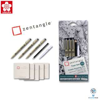 Sakura Zentangle White Tile-Tool Set A [FM-XZTGZ-01(OBD)]