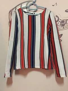 Stripes Blouse Import Bangkok