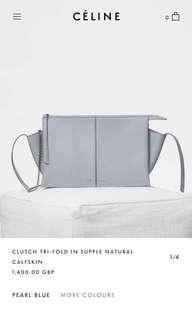 可議價 全新Céline trifold clutch連單