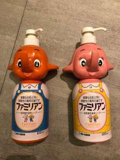 Sato Elephant Soap Dispensers Empty (Pair)