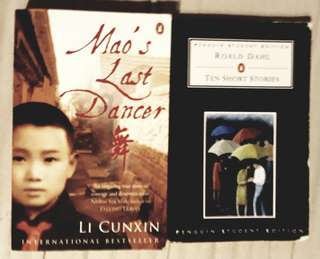 Mao's Last Dancer by Li Cunxin and ten short stories by Roald Dahl