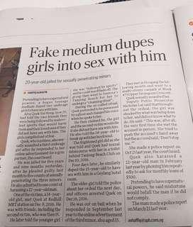 [#News] Fake Medium Dupes Girls Into Sex With Him