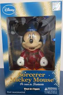 *Collector Item* Brand New Original Disney Sorcerer Mickey Mouse Vinyl Art Figure* Free Shipping*