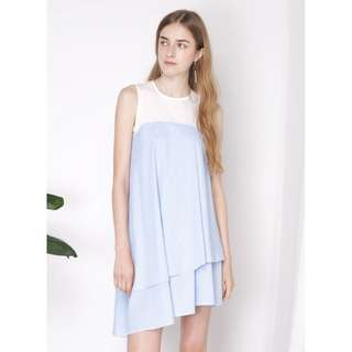Andwelldressed Oblivion contrast asymmetrical dress, sky