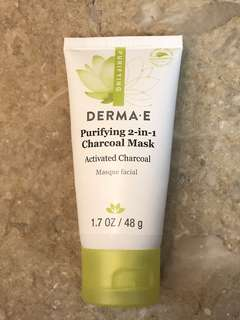 DETOX & GLOW WITH DERMA E PURIFYING 2-IN-1 CHARCOAL MASK