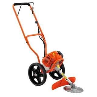 3 in 1 Wheeled Trimmer - Orange Powerful 62cc 2-stroke engine Suitable for thin trunk, heavy grass and low grass trimming
