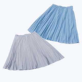 日本 OLIVE des OLIVE 超大碼 包郵 28-45 腰 涼爽 雪紡 高腰  中長裙 CY528647