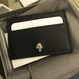 Alexander McQueen black card holder 卡包