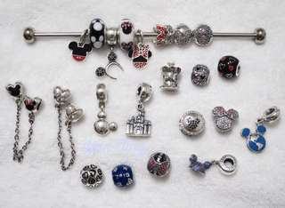 Pandora Disney Mickey Minnie & Park Exclusive Charms