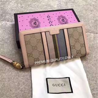 Gucci Rania GG zip around Wallet - pink