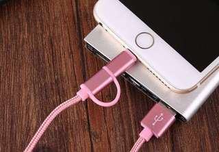 Dual purpose charger for android & Iphone