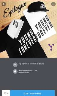 BTS YOUNG FOREVER CAP AND SHIRT