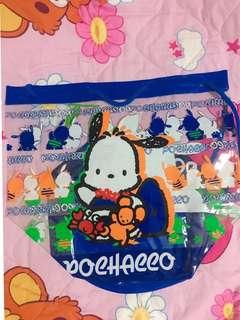 Sanrio PC Pochacco 透明 袋 沙灘袋 手挽袋 索袋