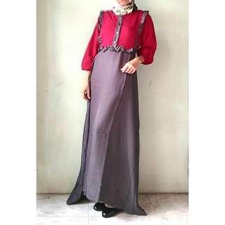 Baju Gamis Panjang Murah Maya Merah Baju Pakaian Wanita