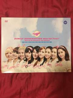 Snsd girl's generation 少女時代 girls & peace world tour dvd