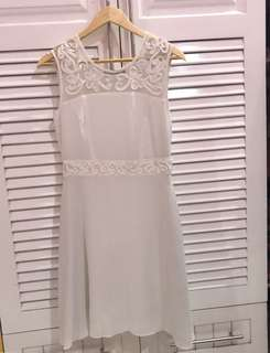 White Casual/Semi formal Dress