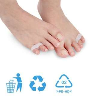 (457)Silicone Little Toe Sub-toe Separator With Double Holes Reshaping Aligner