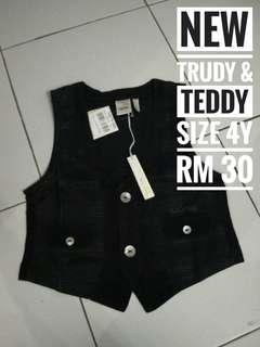 🆕Black Vest Trudy Teddy