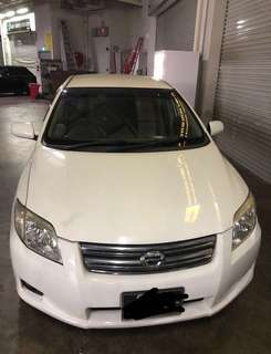 Toyota Axio 1.5a for daily rent