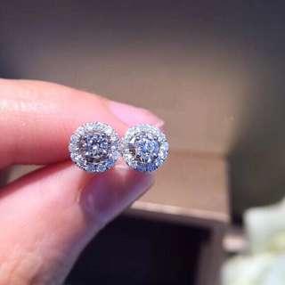 2用鑽石耳環可拆開💎18k金鑽石耳環防敏🎁生日禮物推薦