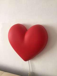 IKEA heart shaped light