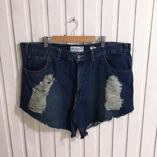 Plus size Faded Glory Ripped Denim Short