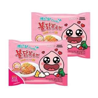 韓國辣雞麵apeach kakao friends🇰🇷三養卡邦尼煙肉辣雞味撈麵