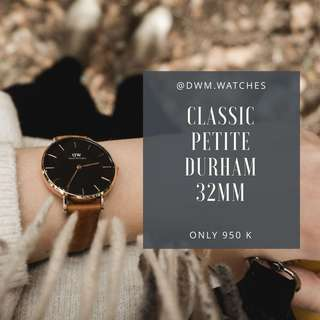 DW Classic Petite Durham 32mm (silver/gold)