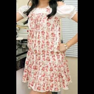 Pink Tied Halter Dress