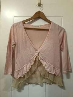 韓國粉色短外套