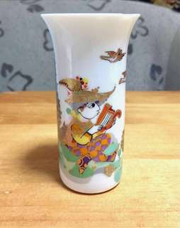 Vintage Hand Painted Fine Porcelain Balinese Vase (Small)
