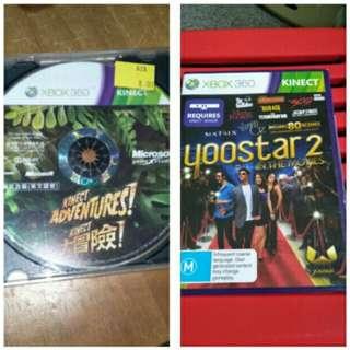 Xbox 360 kinect $6 games bundle - kinect adventures plus yoostar2