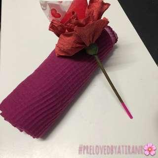 Crumple shawl purple
