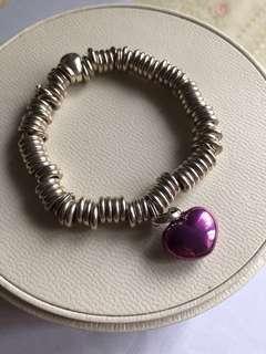Links Of London Bracelet + Purple Heart charm/Pandora