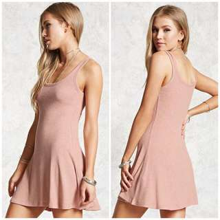 Pre-order Marled Ribbed Knit Swing Dress