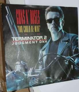 Nmvg+ guns n roses terminator 2 record vinyl 7' ost
