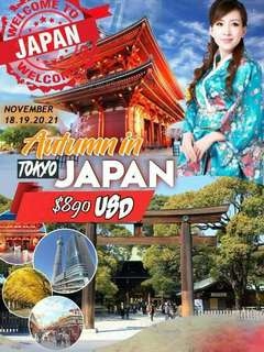 International Join Tour Autumn in Tokyo Japan