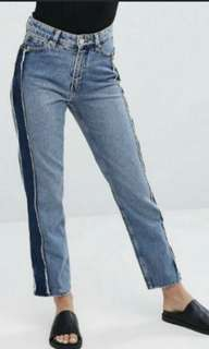 Strip jeans