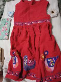 Printed red dress
