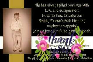 Personalized Birthday/Baptismal Photo Invitation