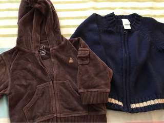 Baby Gap Pull Up & Circo Knitted Jackets