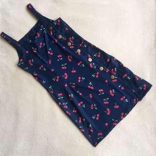 Cherry 🍒 Side ButtonDown Dress