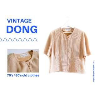 🚚 | 咚 咚 Vintage |日本古著-荷田暮色短袖衫